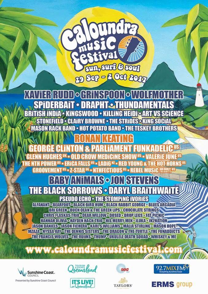 Caloundra Music Festival poster