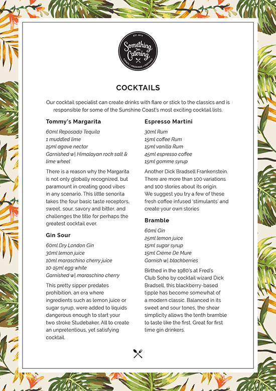 Bar Cocktails List I