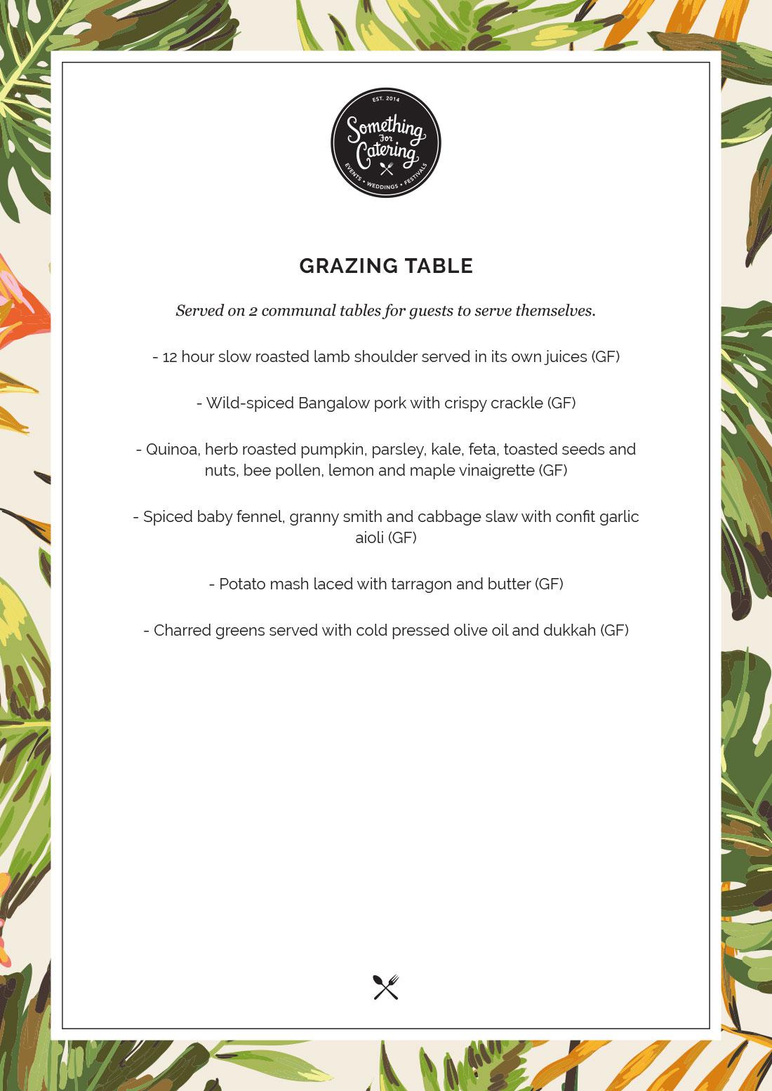 Grazing Table Menu