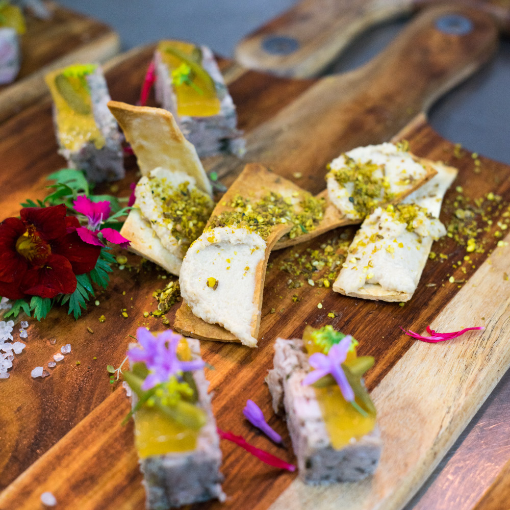 Beautiful canapes by Something for Catering
