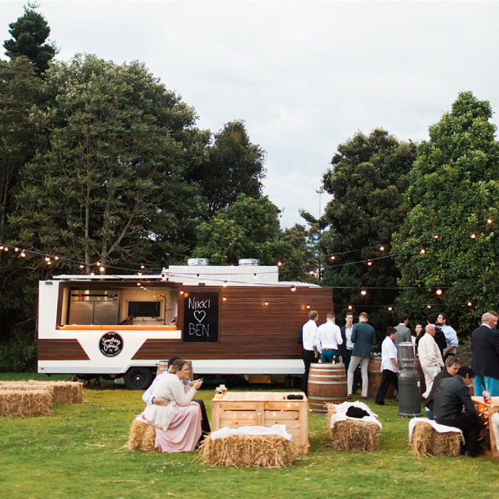 Something for Catering's van at outdoor wedding