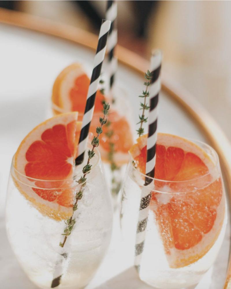 Elderflower twist cocktail