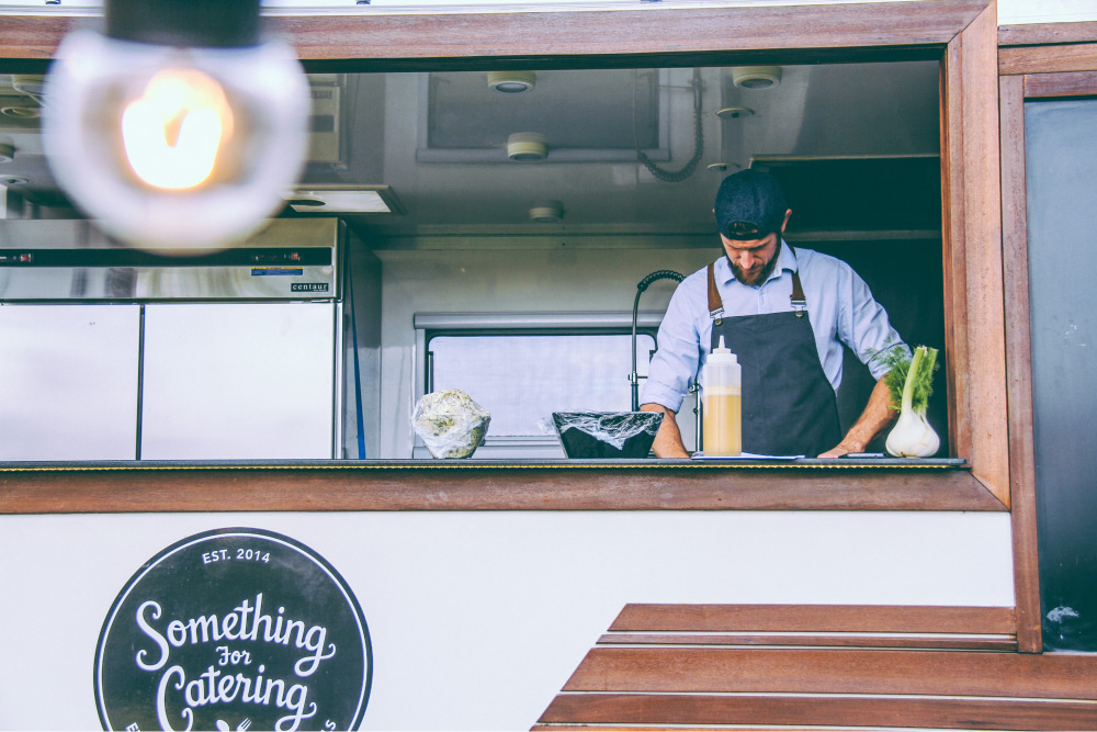 Mobile catering van and chef