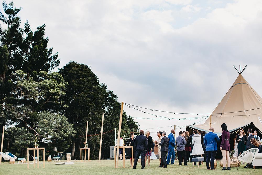 Tipi marquee wedding sunshine coast